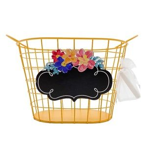 New The Pioneer Woman Red Wire Chalkboard Basket